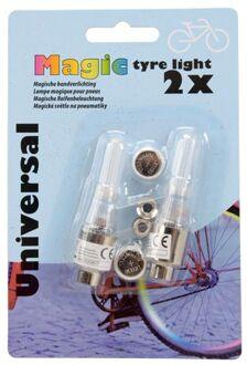 magic fietswielverlichting led meerkleurig bandenverlichting 2 stuks inclusief batterijen