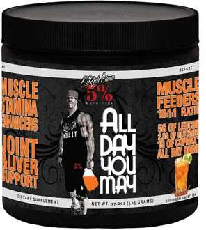 5% Nutrition Rich Piana All Day You May 465gr Southern Sweet Tea