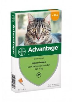Advantage Nr. 40, Vlooienmiddel (tot 4kg) kat 3 stuks