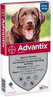 Advantix Spot-on 400 (25 - 40 kg) - Vlooien- en tekenmiddel - 4 X 4,0ml