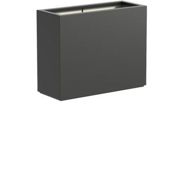 Adezz | Polyester bloembak Buxus | 100 x 40 x 80 | Antraciet