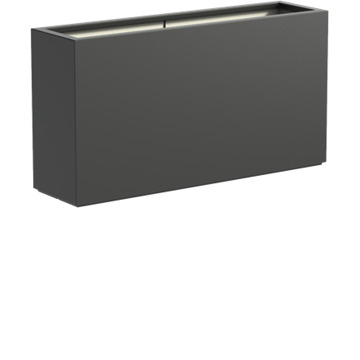 Adezz | Polyester bloembak Buxus | 150 x 40 x 80 | Antraciet
