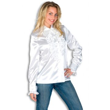 Rouches blouse wit dames 36 (s)